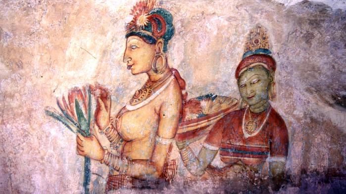 Veggmalerier i Sigiriya