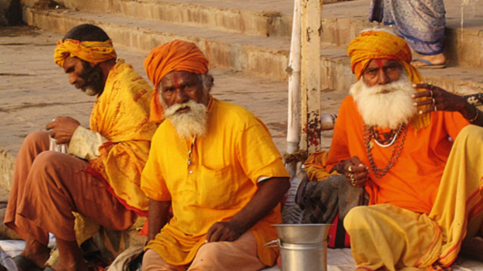 Hellige menn i Varanasi