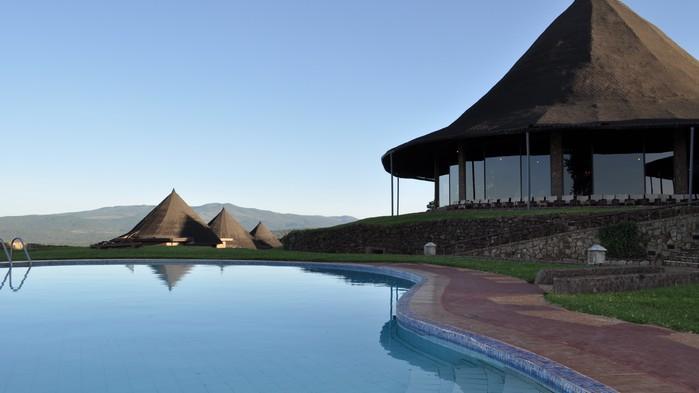 Bassenget på Ngorongoro Sopa Lodge