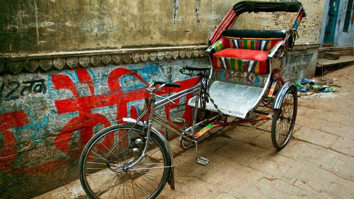 <strong>Sykkelrickshaw i Delhi</strong>