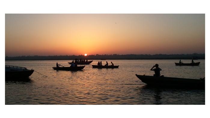 <strong>Ganges tidlig om morgenen</strong>