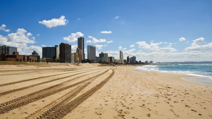 Kysten ved Durban.